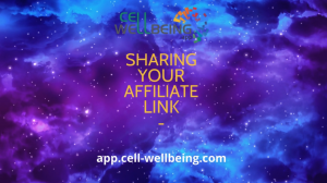 Share affiliate link with your peers